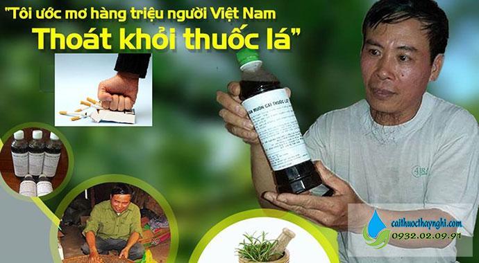 Bỏ thuốc lá trong 3 ngày nhờ nước súc miệng cai thuốc lá thầy Nghị