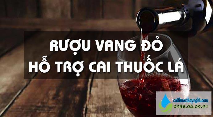 rượu vang đỏ hỗ trợ cai thuốc lá