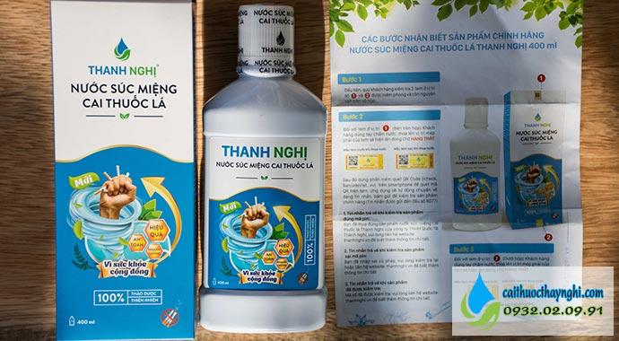 sản phẩm nước súc miệng cai thuốc lá thanh nghị