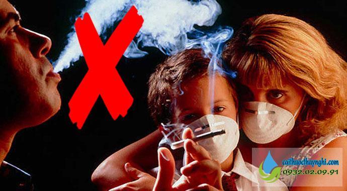 Việc cai thuốc lá sẽ tránh nguy cơ gây bệnh cho người xung quanh bạn