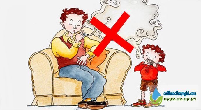 Bỏ thuốc lá sẽ giảm nguy cơ gây bệnh nguy hiểm cho những người xung quanh