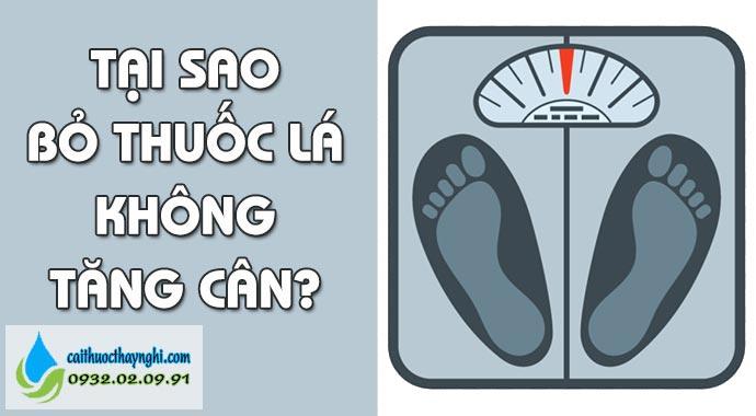 tại sao bỏ thuốc lá không tăng cân