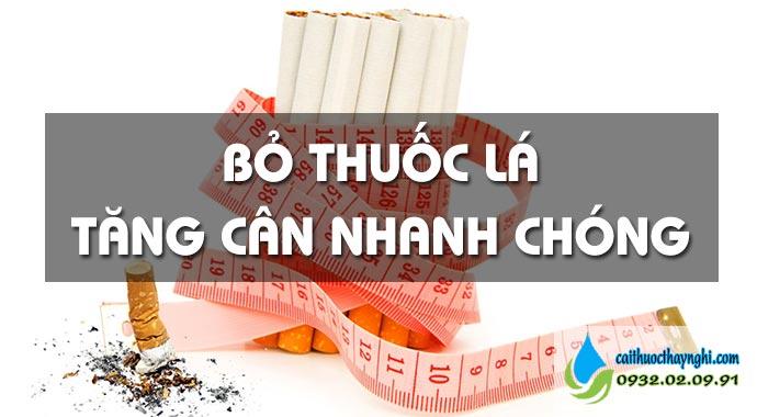 tại sao bỏ thuốc lá lại tăng cân nhanh chóng