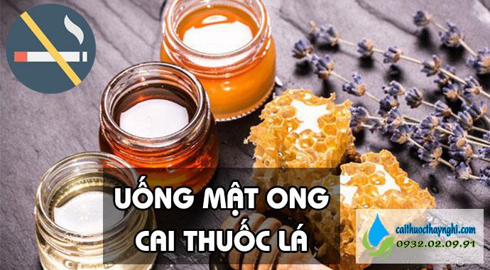 uống mật ong cai thuốc lá