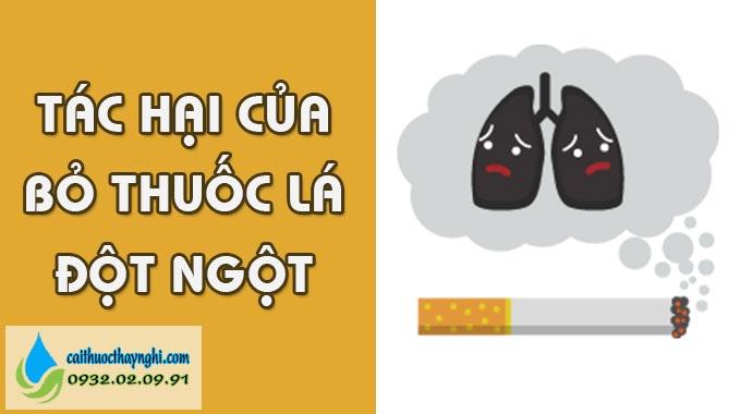 tác hại của bỏ thuốc lá đột ngột