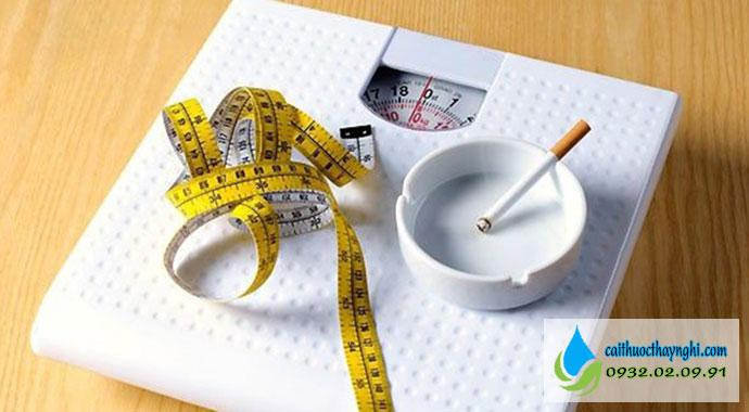 bỏ thuốc lá bao lâu thì tăng cân