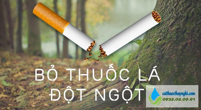 bỏ thuốc lá đột ngột