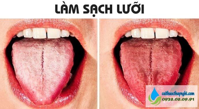 làm sạch lưỡi mẹo chữa hôi miệng