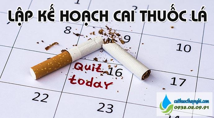 lập kế hoạch cai thuốc lá