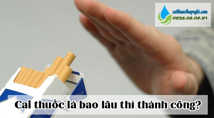 Cai thuốc lá bao lâu là thành công