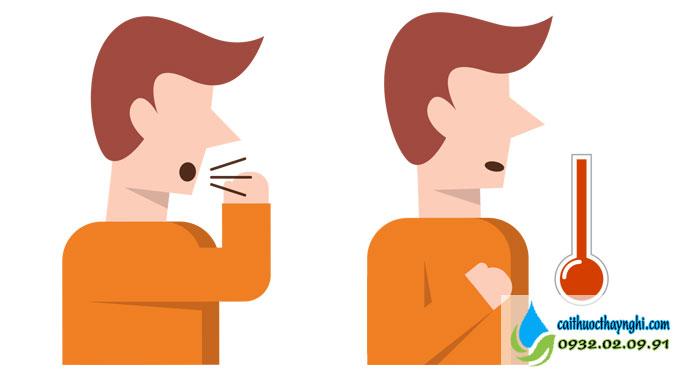 sốt ho hội chứng sau khi bỏ thuốc lá