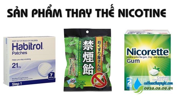 cai thuốc lào bằng sản phẩm thay thế nicotine