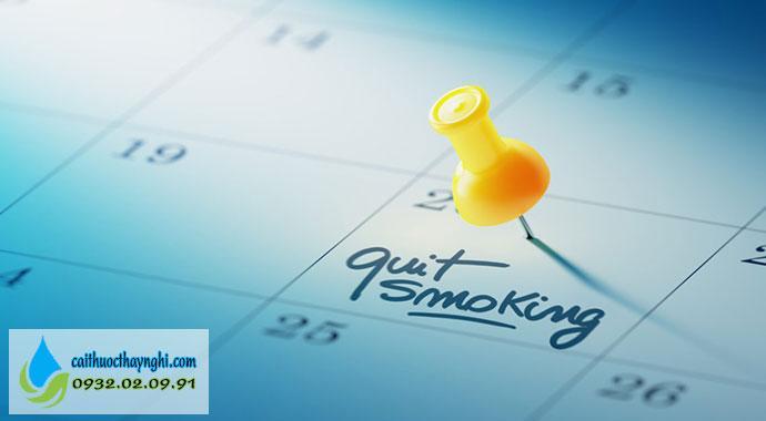 lựa chọn thời gian thích hợp để bỏ thuốc lá