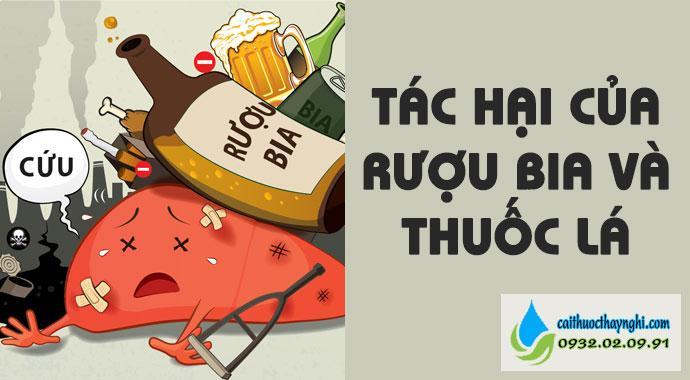 tác hại của rượu bia và thuốc lá