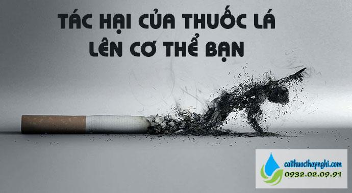 tác hại của thuốc lá lên cơ thể bạn