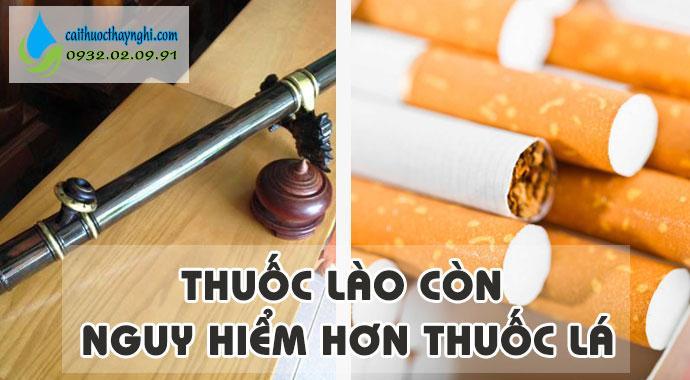 thuốc lào nguy hiểm hơn thuốc lá