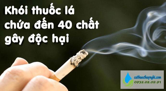 các chất gây ung thư trong khói thuốc lá