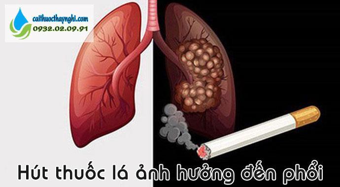 hút thuốc lá ảnh hưởng trực tiếp đến phổi