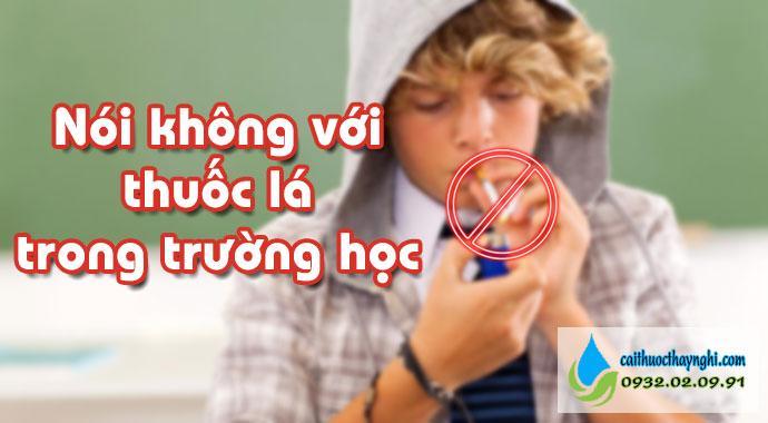nói không với thuốc lá trong trường học
