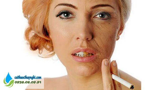 tác dụng của việc bỏ thuốc lá đối với làn da