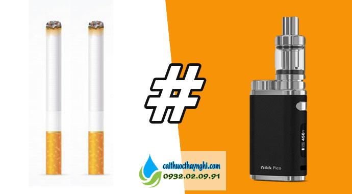 khác nhau giữa thuốc lá truyền thống và vape