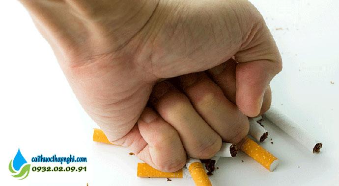 quyết tâm bỏ thuốc lá