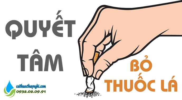 quyết tâm và ý chí từ bỏ thuốc lá