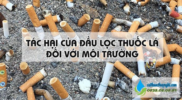 tác hại của đầu lọc thuốc lá với môi trường