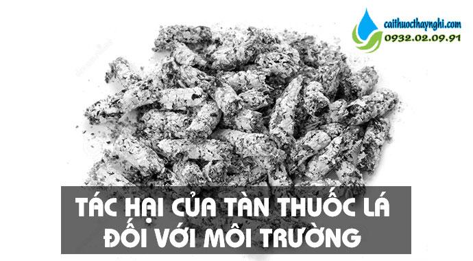 tác hại của tàn thuốc lá với môi trường