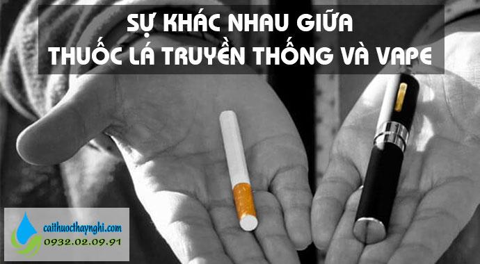 vape và thuốc lá truyền thống
