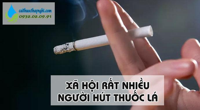 hút thuốc vì xã hội rất nhiều người hút