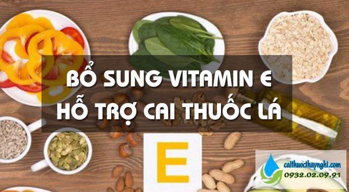 bổ sung vitamin e hỗ trợ cai thuốc lá