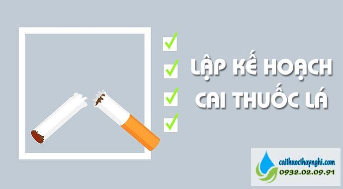 có kế hoạch cai thuốc lá cụ thể