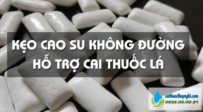 kẹo cao su không đường hỗ trợ cai thuốc lá