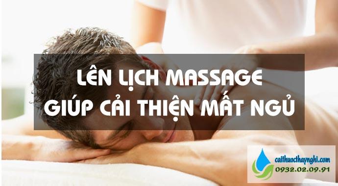 lên lịch massage giúp cải thiện mất ngủ