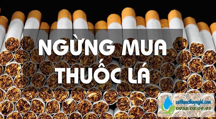 ngừng mua thuốc lá