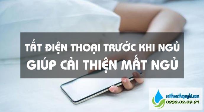 tắt điện thoại trước khi ngủ giúp cải thiện mất ngủ