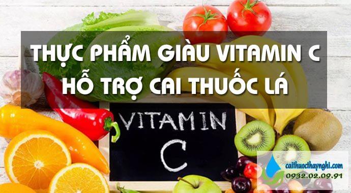 thực phẩm giàu vitamin c hỗ trợ cai thuốc lá