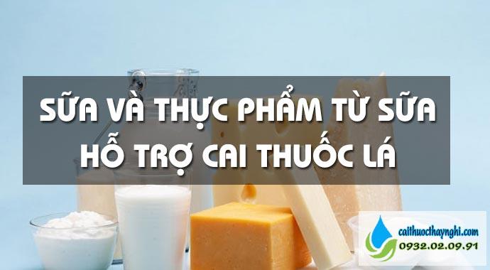 thực phẩm từ sữa hỗ trợ cai thuốc lá