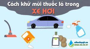 cách khử mùi thuốc lá trong xe hơi