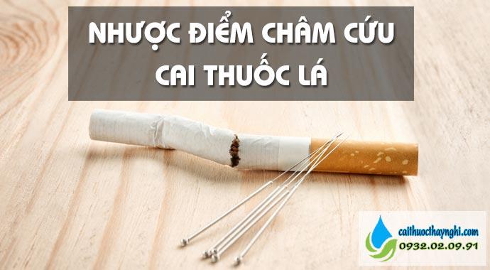 nhược điểm châm cứu bỏ thuốc lá