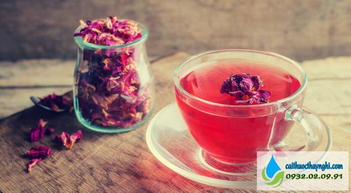 trà hoa hồng hỗ trợ cai thuốc lá