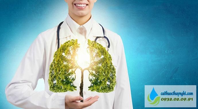 sử dụng các cách làm sạch phổi