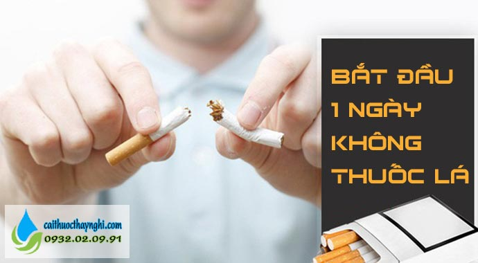 bắt đầu 1 ngày không thuốc lá