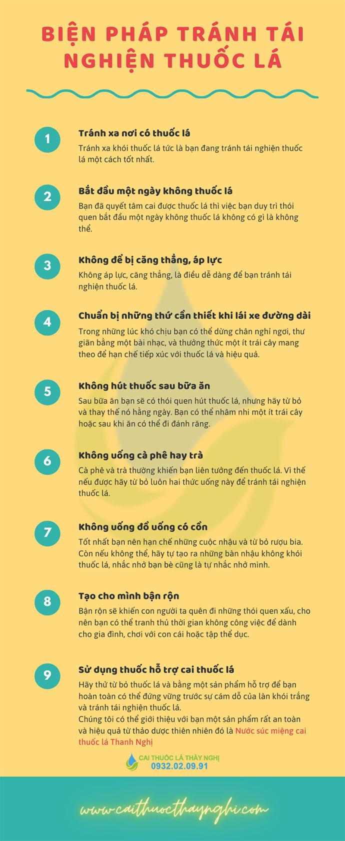 biện pháp tránh tài nghiện thuốc lá