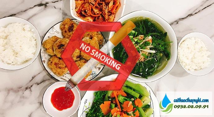 không thuốc lá sau bữa ăn