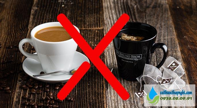 không uống cà phê hay trà