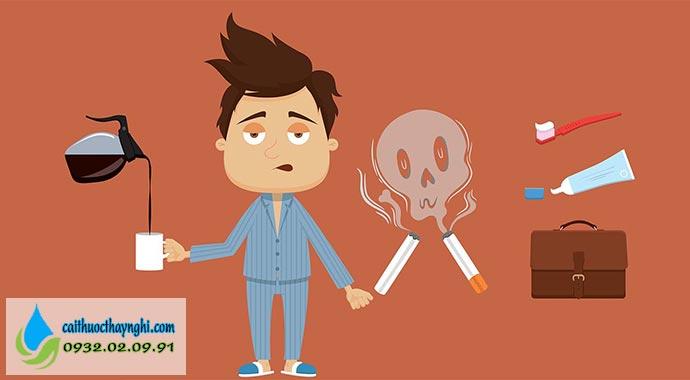 một số thời điểm thèm thuốc lá