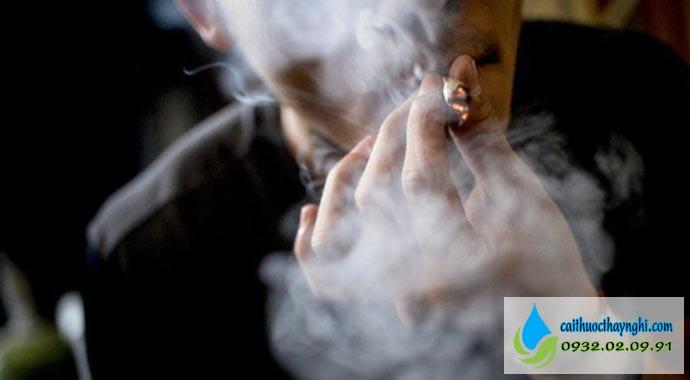 tránh nơi xa có thuốc lá