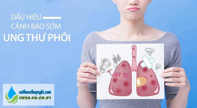 dấu hiệu và triệu chứng ưng thư phổi